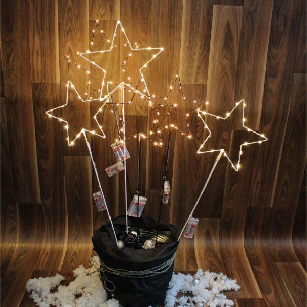 22254 led stern auf stab metall l zum stecken 2. Black Bedroom Furniture Sets. Home Design Ideas