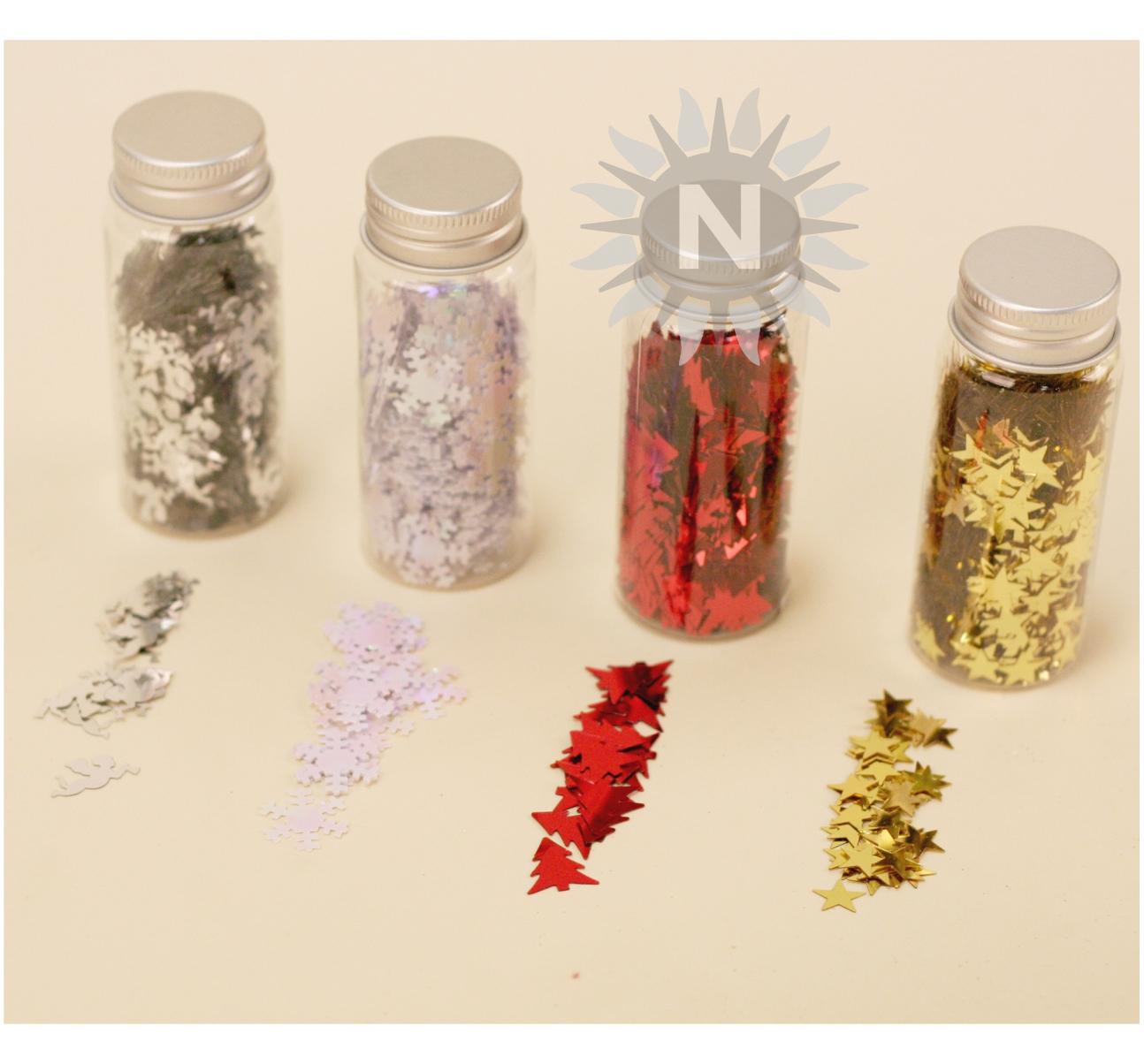 Weihnachtsdeko Rot Silber.23508 Weihnachtsdeko Zum Streuen Aus Kunststoff 4 Designs Sort