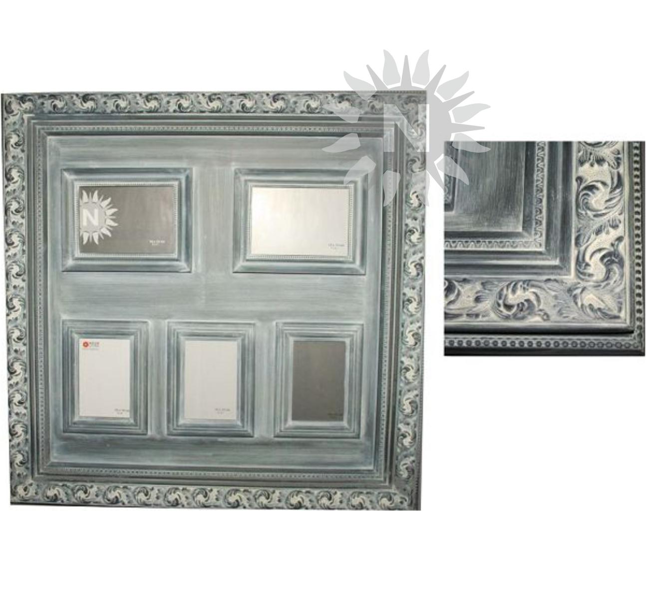 69040 – Bilderrahmen L, Barock-Design, für 5 Bilder (2x 13x18cm & 3x ...